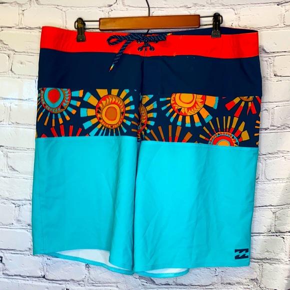 Billabong Blue Red Platinum X Board Shorts Size 38